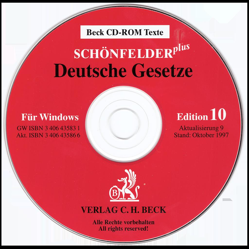 Schönfelder-CD-ROM 10. Edition (Die erste finde ich leider nicht mehr.)